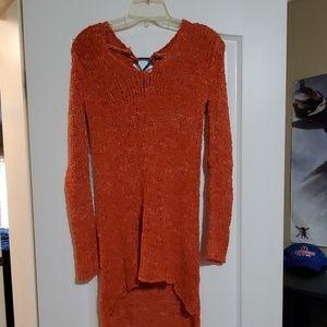 Lace Back Sweater Tunic